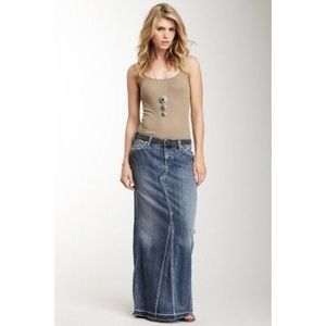 Silver Jeans | Blue Jean Maxi Skirt Modest